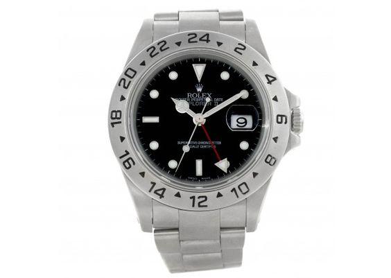 Rolex Explorer II Mens Steel Black Dial Watch 16570