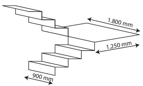 Medidas de escaleras buscar con google escaleras for Medidas escaleras