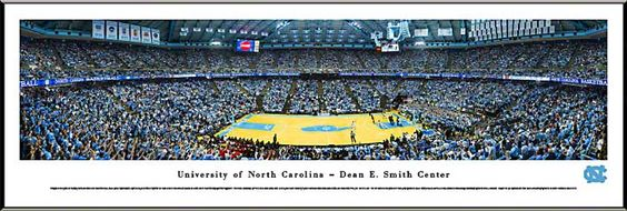 North Carolina Tar Heels Framed Panoramic Poster Print - Dean E Smith Center - Dean Dome
