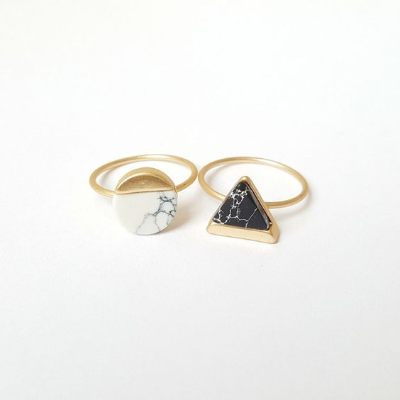 These geometric marbles. | 23 Ridiculously Cute Rings That Are Under $25