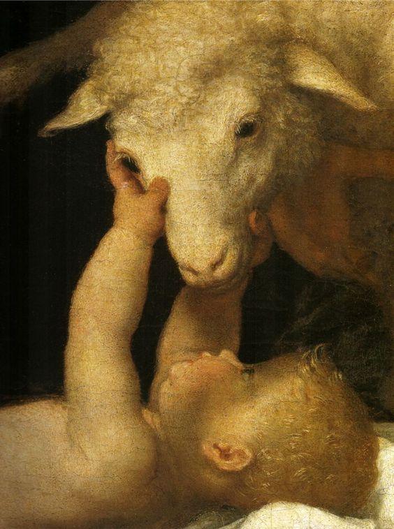 Adorazione dei pastori. ( detail ) / L'adoration des bergers. ( détail ) / By Lorenzo Lotto.: