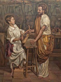 JESÚS Y SAN JOSÉ Retablo para el Centro Cultural Westcott, Houston, Estados Unidos — Nacho Valdes