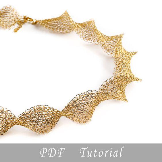 Wire crochet  pattern of INFINTY necklace , wire crochet PDF tutorial , wire work instructions , DIY crochet ebook by Yoola