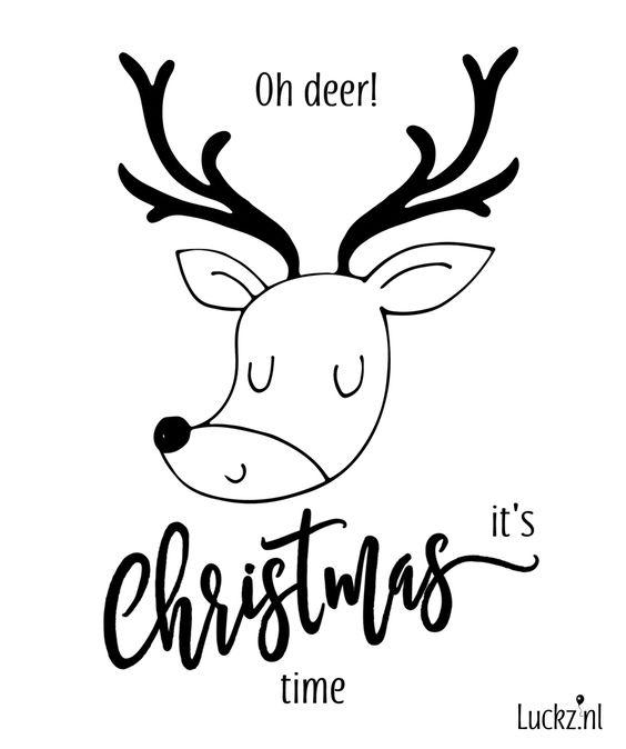 Oh deer! It's Christmas time. Grappige kerstwens met een guitige illustratie van een hertje. Maak deze kerstkaart zelf bij Luckz en bekijk deze en andere grappige kerstwensen in onze kerst teksten verzameling.