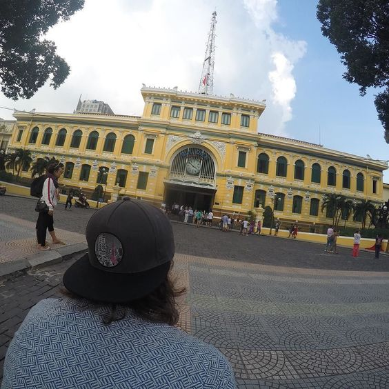 Nice place to send some postcards I'll bet I get home before they do  #vietnam #postoffice #GoPro . . . . #GoPro #goprohero4 #backpacker #backpackerlife #travelgoals #architecture #goprooftheday #photooftheday #wanderlust #travel #globetrotter #digitalnomad #nofilter #getbackpacking #hero_adventure #goprowill #gopropointofview #travellers_experience #goproeracademy #herobyhero #goprotravelsz #goprostyles #go_herolife #GoWorldWide #selfiepelomundo #gproworldwide #selfiegopro…