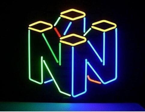 Custom Nintendo 64 Glass Neon Light Sign Beer Bar In 2020 With Images Neon Light Signs Neon Signs Room Signs