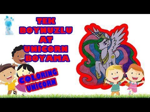Tek Boynuzlu At Boyama Unicorn Nasil Boyanir Coloring Unicorn Videolu Ruya Tabirleri In 2020 Mario Characters Character Fictional Characters