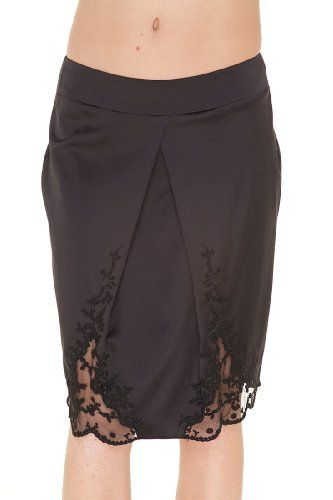 Emporio Armani BLACK Silk Knee Length Skirt, 46, Black Emporio Armani. $100.50