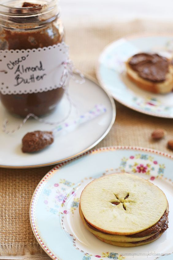 / chocolate almond butter + apples