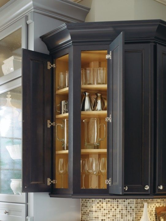 Maximize storage space with a 135 degree wall cabinet by Maximize kitchen storage