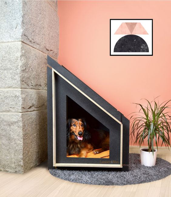 Tap image for more beautiful dog houses! #doghouse Amazing modern and geometric custom dog house!