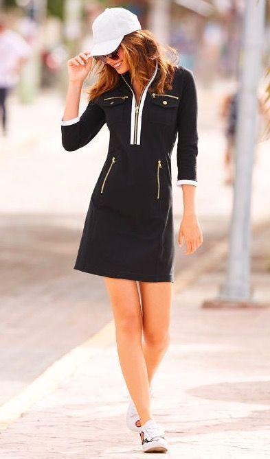 Chic Zip Sport Dress ~ Today's Fashion Item #BostonProper