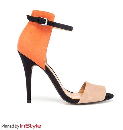 """Katie Couric's Shoe Picks — Zara heels: """"I love the surprising POC (pop of color, new phrase I learned ha!) on these."""""""