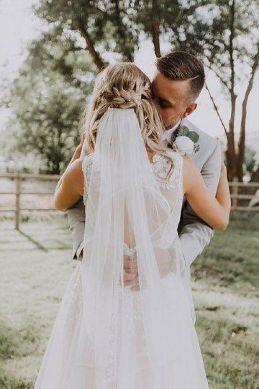 Half Up Half Down Braided Wedding Hair Stunning Wedding Vail