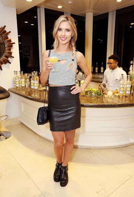 Lovely Ladies in Leather: Audrina Patridge in a leather mini-skirt ...