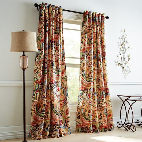 Vibrant Paisley The Name Says It All Well That And Machine Washable Polyester And Contemporary Grom Tab Curtains Paisley Curtains Living Room Decor Curtains