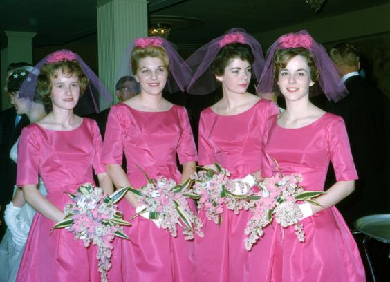 Wedding Day 1962 - The Bride's Maids: