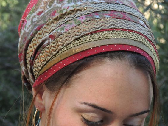 Gold & Red- tichel,Hair Snood, Head Scarf,Head Covering,jewish headcovering,Scarf,Bandana,apron