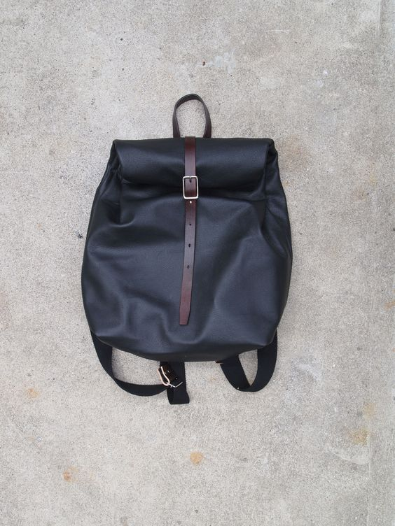 Leather backpack. Handmade in Toronto | Leather | Pinterest ...
