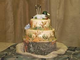 hunting theme groom's cake