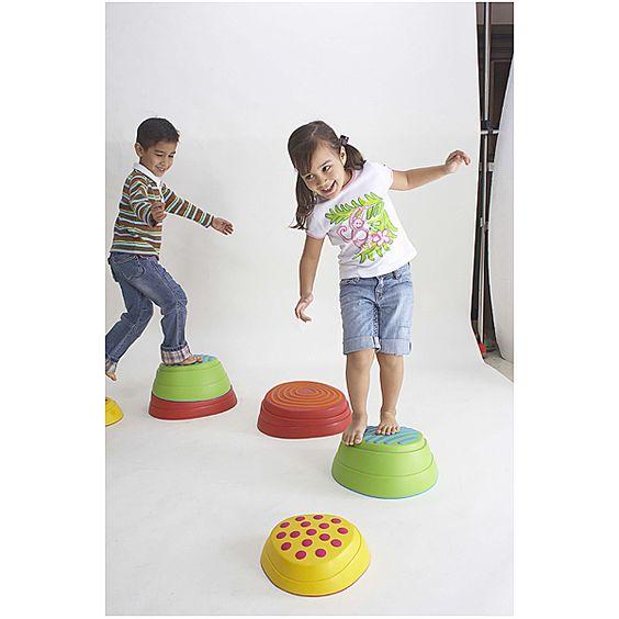 Weplay, Regenbogen Flußsteine für Bewegungskoordination, Stabilität, Konzentration, Muskelaufbau, Geschicklich | KT0008 / EAN:4260081542103