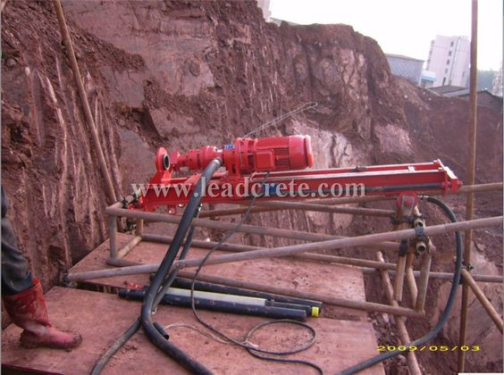 drilling machine at worksite