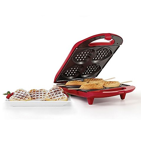 Holstein Housewares Heart Shaped Waffle Maker In Red Bed Bath Beyond Heart Shaped Waffle Maker Waffles Maker Waffles