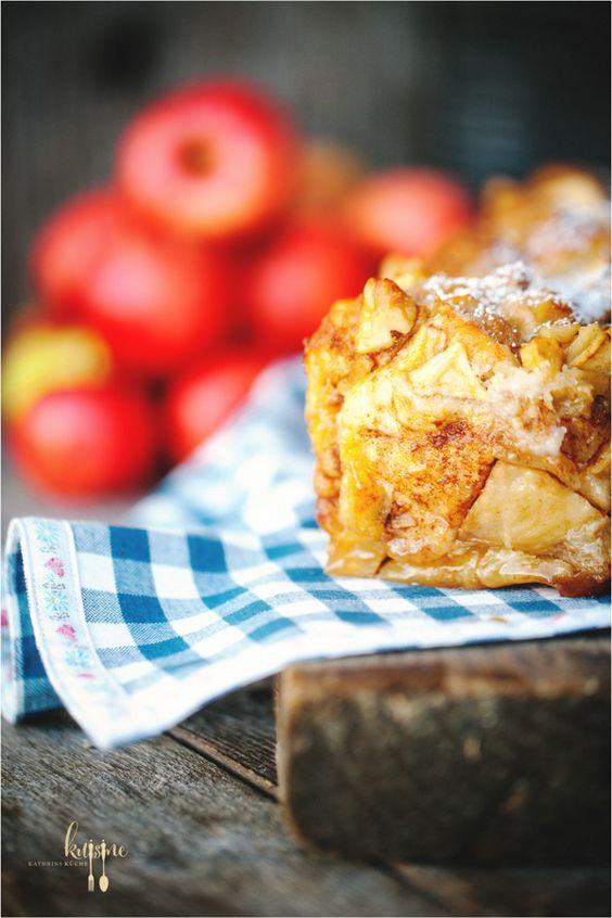 Pull apart bread - Zupfbrot mit Zimt und Äpfeln