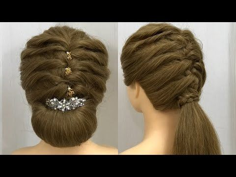 Hairstyles For Medium Long Hair Easy Party Hairstyles Youtube Easy Party Hairstyles Medium Hair Styles Long Hair Styles