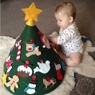 Crea un árbol de Navidad para tu bebé: idea DIY