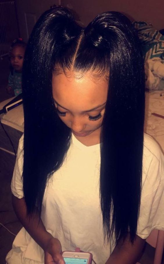 4 Long Ponytail Hairstyles On Peruvian Straight Hair Weaves