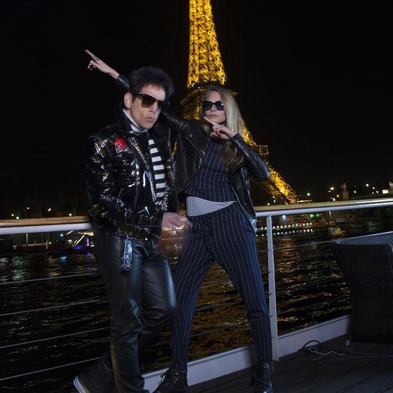 Cara Delevingne and Ben Stiller at the Eiffel Tower!  - 28/01/2016