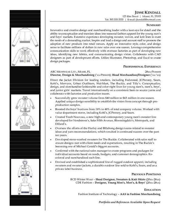 Fashion Merchandiser Resume -    jobresumesample 1364 - cfo resume examples