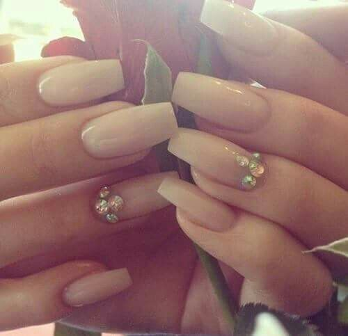 Nude fancy nails