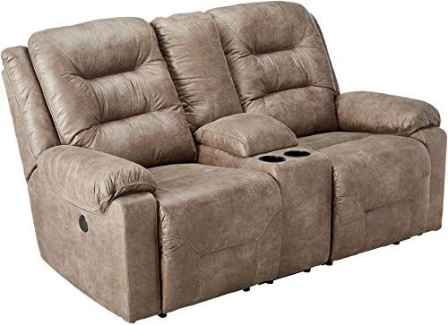 Beautiful Signature Design By Ashley Rotation Double Reclininglining Power Loveseat With Console Smoke Furniture 820 A In 2020 Furniture Love Seat Ashley Furniture