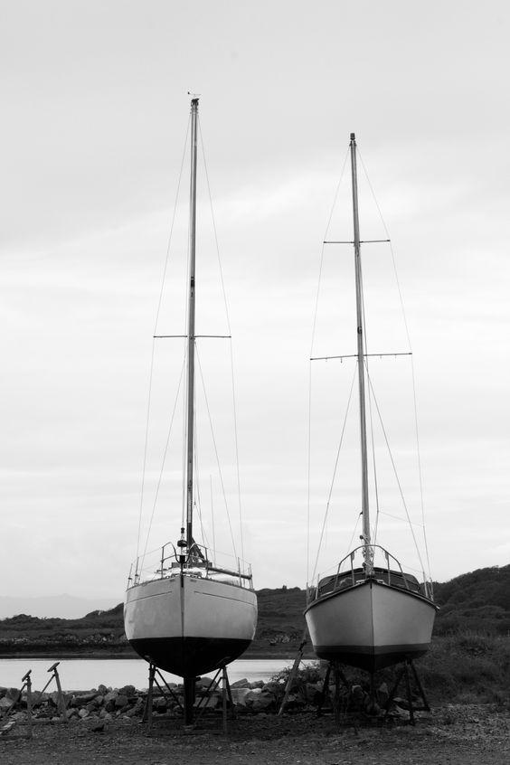 Schottland - Dort gibt es Segelboote wie Sand am Meer! :)