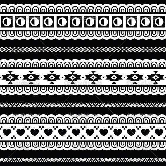 motif azt que noir et blanc motifs aztec pinterest. Black Bedroom Furniture Sets. Home Design Ideas