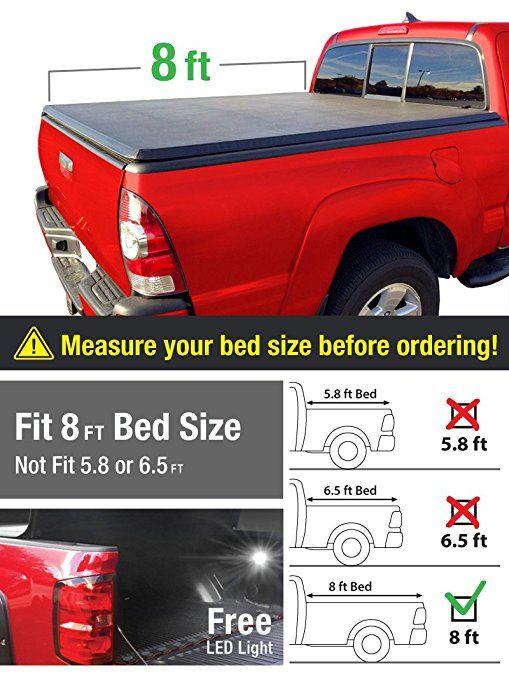 Premium Tri Fold Truck Bed Tonneau Cover 2002 2018 Dodge Ram 1500 2003 2018 Dodge Ram 2500 3500 Fleetsi Truck Bed Covers Best Truck Bed Covers Tonneau Cover