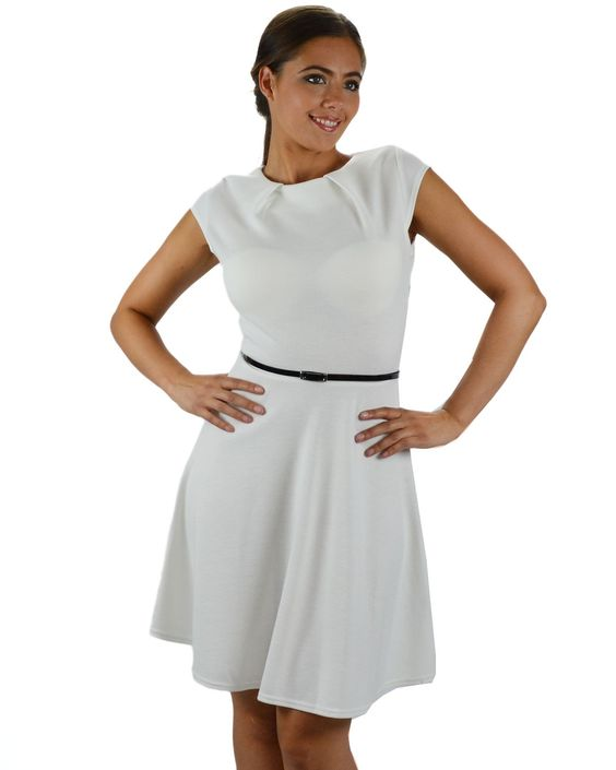 White Casual Dress: Young Women Clothing- Cheap Casual Dresses ...