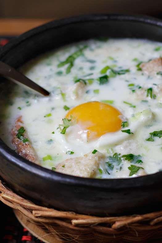 poached egg soup changua con huevo global table adventure poached egg ...