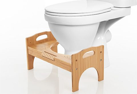 Luxury Bamboo Toilet Stool With Foot Massager Sharper Image Stool Toilet Stool Foot Massage