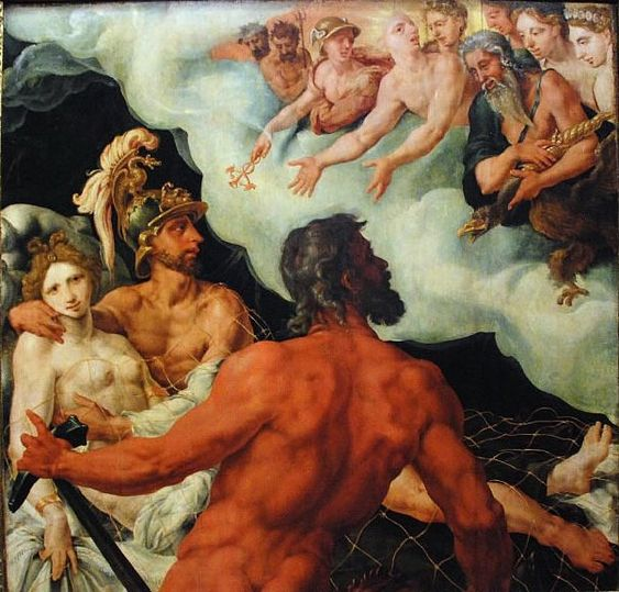 Vulcan, Venus and Mars - Maarten van Heemskerck (1540)