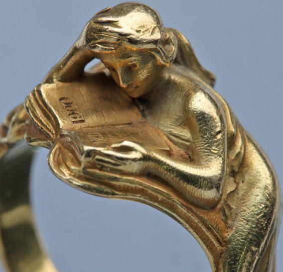 LOUIS ZORRA Art Nouveau Ring image 7: