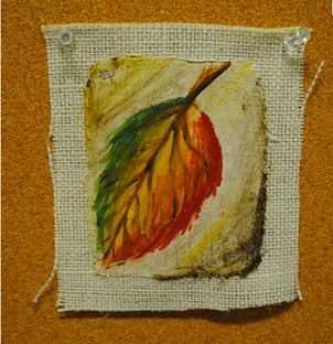Plaster on Burlap, let dry, dampen and draw into/paint. Fresco!