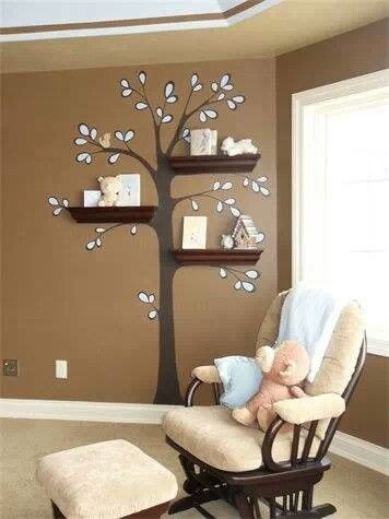 love the tree! so wish I could paint his room Baby Pinterest