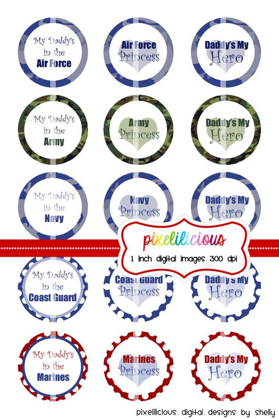Bottle Cap Image Sheet  Instant Download  Daddy by pixelilicious