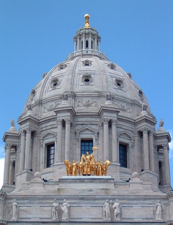 Dome of the Minnesota Capitol. Pinterest image.