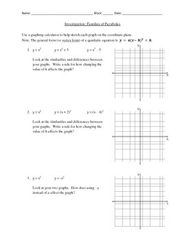 This Algebra II discovery activity helps students analyze graphs ...