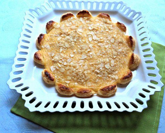 Olor a hierbabuena: Tarta margarita de hojaldre a la naranja