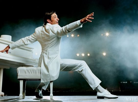 """Hugh Jackman on broadway in """"The Boy from Oz"""" photographed by Norman Jean Roy, Vogue, September 2003"""